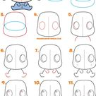 How to Draw a Cute Chibi / Kawaii Eeyore Easy Step by Step Drawing Tutorial for Kids & Beginners   H