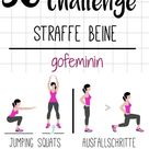 Für schöne straffe Beine: Die 30 Tage-Bein-Challenge!