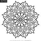 Flower Mandala Vintage Decorative Elements Oriental stockvector (rechtenvrij) 590398412