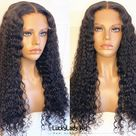 virgin hair Loose Curly hair wigs prelucked hair human hair wig frontal Lace women wig with baby hair bleached knots glueless wig for women