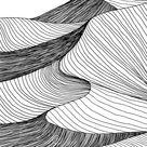 Abstract Desert Sahara Landscape. Line Art Hand Drawn Illustration. Desert Landscape View. Sand Dunes Line Drawing Vector. Black Stock Illustration - Illustration of climate, outdoor: 176045075