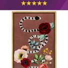 Oliver Gal Garden Snake Mauve Dark Zoo & Wild Animals - Graphic Art Print on Canvas Format: Gold Framed Canvas, Canvas & Fabric in Brown/White