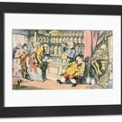 Framed Photo. Death and the Apothecary or The Quack Doctor,