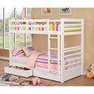 California CM-BK588T-WH White Transitional Twin/Twin Bunk Bed