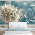VLIES FOTOTAPETE Blumen Pusteblume grau TAPETE WANDBILDER XXL Wohnzimmer 081 • EUR 8,99