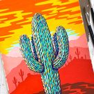 Gouache Painting a Wild Saguaro Sunset by Philip Boelter