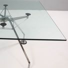 Norman Foster for Tecno Nomos Square Glass Table, 1980s