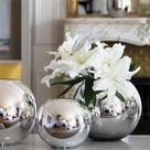 Christofle Uni Metallized Glass Vase - Medium