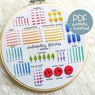 Full Beginner Embroidery Guide  Learn 14 Beginner Embroidery | Etsy