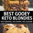 The BEST Keto Blondies NO dairy