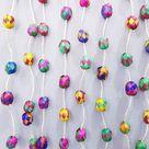 Mexican straw garland / woven Christmas tree ornaments / christmas garland