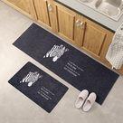 Tapis de plancher prussien - 40cm-120cm / Zèbre Bleu