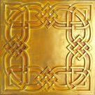 Vintage tin ceiling tiles golden bar store decor ceiling panels PL61 10tiles/lot
