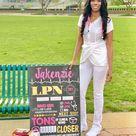 LPN, BSN, LVN, LPN, RN or Any Nursing Graduation Personalized Chalkboard Sign Photo Prop - Any Nursing Degree DIGITAL FILE  (Nurse-Check LPN)