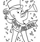 New Year's Day Coloring Pages - Happy New Year Coloring Pages