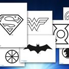 Themed Printables: Justice League Logos