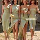 Mismatches Silk Elastic Satin Bridesmaid Dress, FC5208 - US0 / Custom Color / C