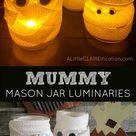 Mummy Mason Jar Luminaries | Halloween In A Jar - A Little Claireification