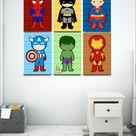 Dia das criaças quadrinhos decorativos e personalizados para quarto infantil