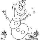 Disney Frozen   Olaf Snowman   Freebies