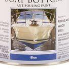 Rust Oleum Marine Coatings Boat Bottom Antifouling Paint Blue Flat Enamel Oil Based Marine Paint 1 Quart   207013