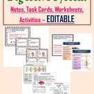 Teaching Resources for Digestive System of Human Body | Editable Handouts, Task Cards, Activities