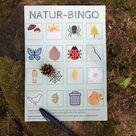 Mit Kindern die Natur entdecken: Naturbingo - ein Suchspiel für Wald und Flur - Lavendelblog