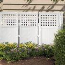 Suncast FS4423 Outdoor Garden Yard 4 Panel Screen Enclosure Gated Fence, White - Walmart.com