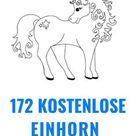 Ausmalbilder Einhorn: 172 Kostenlose Einhorn Malvorlagen zum Drucken