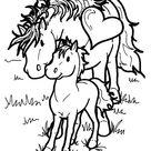 Kids-n-Fun | Kleurplaat Paarden Paarden