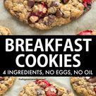 Breakfast Cookies (4 ingredients!)
