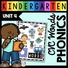 Phonics Unit 4 - CVC Words & Word Families FREEBIE — Keeping My Kiddo Busy