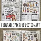 Picture Dictionary: All about English Vocabulary + Word Banks! Englisch Wörterbuch/Vokabeln UK & USA
