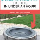 DIY Fire Pit - How to Build a Patio Fire Pit