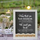 Wedding Seating Signs