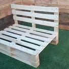 Sofa de palets color madera