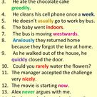 18 Adverb Sentences, Example Sentences with Adverbs in English - English Study Here