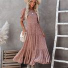 Livingston Floral Smocked Puff Sleeve Maxi Dress - Small