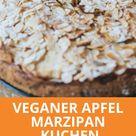 veganer Apfel Marzipan Kuchen