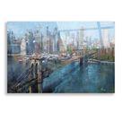 Epic Art 'Brooklyn Bridge' by Mark Lague, Acrylic Glass Wall Art   24x16