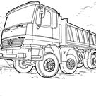 Mercedes-Benz Truck coloring page   Free Printable Coloring Pages