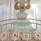 Angel / Heaven Teddy Bears Baby Shower Party Ideas | Photo 6 of 38