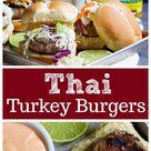 Thai Turkey Burgers with Cabbage Slaw • Unicorns in the Kitchen