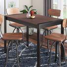 Erweiterbarer Esstisch Zendaya Ebern Designs Farbe (Tischgestell): Antik, Farbe (Tischplatte): Walnuss