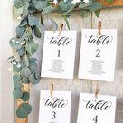 Wedding Seating Chart Template Calligraphy, table Seating Chart printable, elegant Seating plan, Editable Template seating chart craft paper