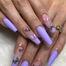 Acrylnägel Sommer 2020 Butterfly Nails sind der letzte Hit