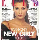 Elle UK Dec 1993  British Original Vintage Fashion Magazine Gift Birthday Present Tereza Maxova cover