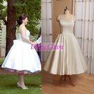 Vintage Short 50s Style Wedding Dresses Short with Spaghetti Strapes,Robe De Mariée Courte Pas Cher,20081101