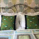 Retro Modern Style Pillow Unique Bird Design Jays   Etsy
