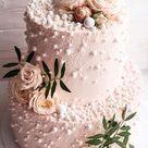32 Jaw-Dropping Pretty Wedding Cake Ideas : Pearl wedding cake